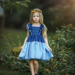NWT Dollcake Winter Blues Dress sz 5